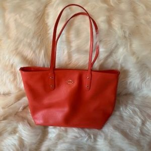 Coach City Zip In Crossgrain Orange Tote